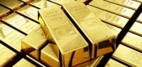11103054 gold bullion 200x95 Gold Jumps as U.S. Dollar, Equities Slip