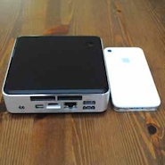 Intel NCU is the Mini PC beside my iPhone