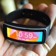 Gear Fit Closeup Gear Fit Review: Samsung's Take on the Fitness Band