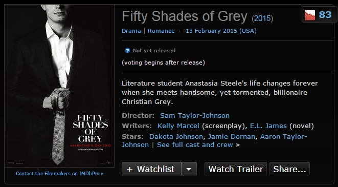 50 shades of grey movie release date in Australia