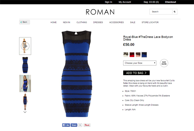 What Color Is The Dress? See Photo Of #TheDress On