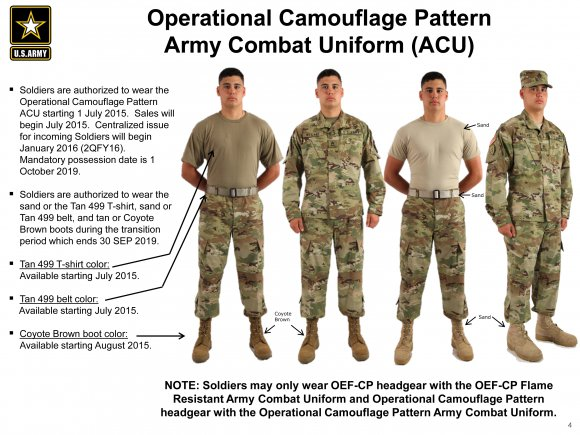New Army Camo 2015: Operational Camouflage Pattern Rolls Out July 1 ...