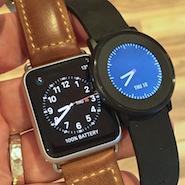pebble time round vs apple watch