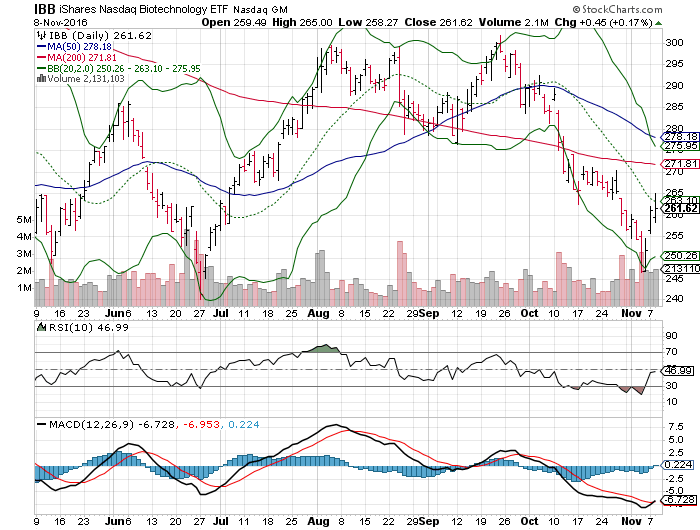 161109 IBB Price Chart