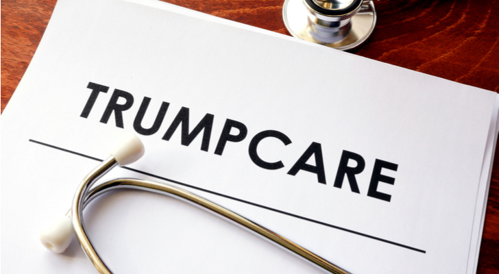 healthcare stocks - Healthcare Stocks Make a Dumb Move on 'Trumpcare'