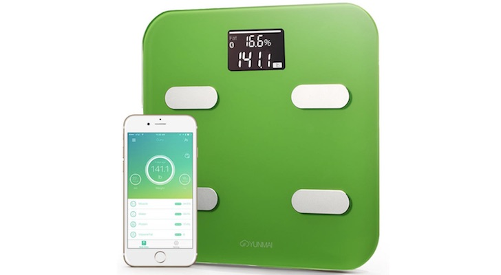 Holiday Gift Guide 2017 (Best Gifts Under $50): Yunmai Color Bluetooth Smart Scale