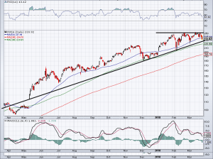 chart of NVDA stock price