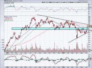 short squeeze of TSLA stock