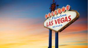 a sign displaying Las Vegas Nevada
