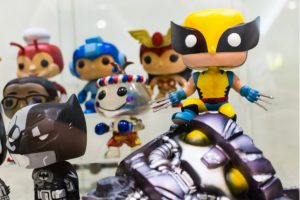"a collection of Funko (FNKO) branded ""pop"" figures"