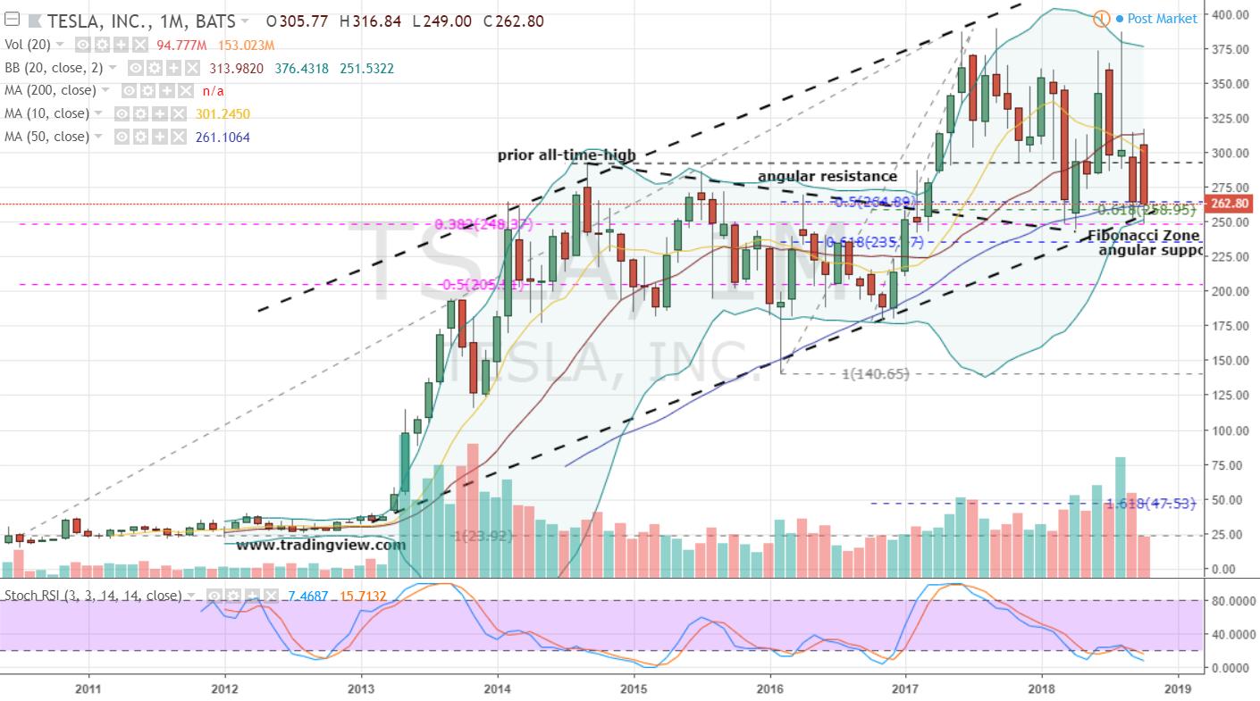 Tesla Stock Weekly Chart