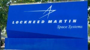 A Lockheed Martin (LMT) Space Systems sign in Sunnyvale, California.