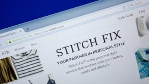 Homepage of StitchFix website on the display of PC