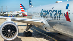 An American Airlines (AAL) airplane waiting on the tarmac.