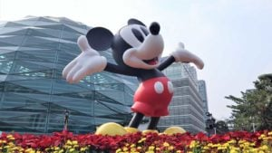 Statue of Disney's (DIS) Mickey Mouse in Bangkok, Thailand.