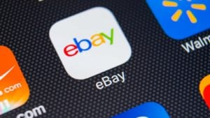 the eBay app on a smartphone