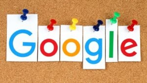 letters spelling out google, a cash-rich stocks