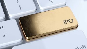 Gold button representing upcoming IPOs.