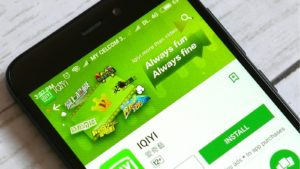 iQiyi (IQ) app displayed on a mobile phone app store