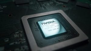 a Nvidia semiconductor chip