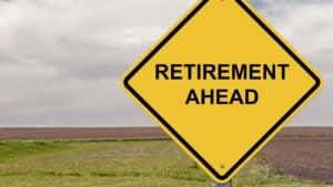 """a roadsign that says """"retirement ahead"""""""