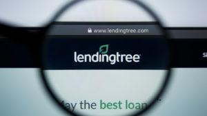 Lending Tree (TREE) website under magnifying glass