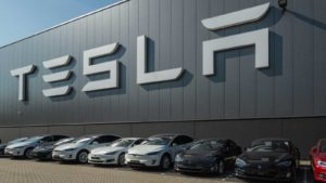 Tesla Motors Assembly Plant in Tilburg, Netherlands.