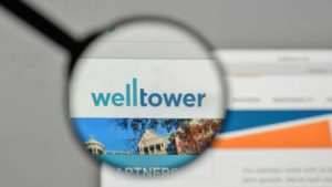 WellTower (WELL) logo displayed on a website and magnified
