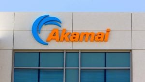 building facade with akamai (AKAM) logo on it. representing tech stocks