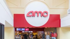Image of the entrance of an AMC Entertainment (AMC) branded theater