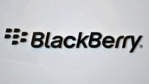 the BlackBerry logo presented on a white background