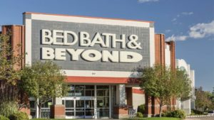 Bed, Bath & Beyond (BBBY) storefront with trees in front