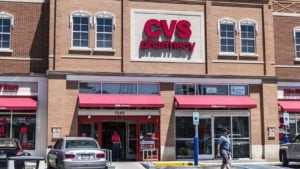 the exterior of a CVS pharmacy store