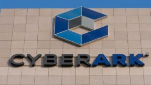 Cyberark (CYBR) logo on a corporate building