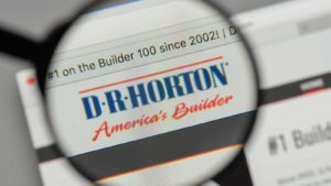 In this photo illustration the D.R. Horton (DRI) logo seen displayed on a smartphone.