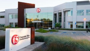 The front of the F5 Networks (FFIV) office in Silicon Valley, California.