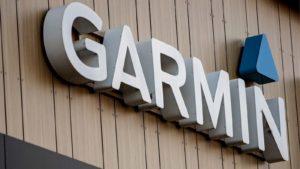 Garmin company logo on a storefront