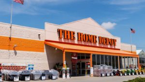 the outside of a home depot store