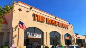a Home Depot store is seen from the outside