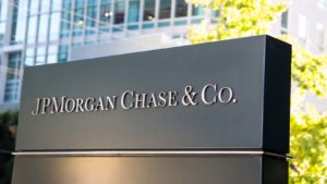 A sign for JP Morgan Chase & Co (JPM)