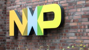 A sign on a brick well for NXP Semiconductor (NXPI).