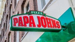 Billboard From Papa John's At Amsterdam East The Netherlands