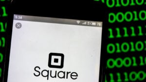 Square, Inc. logo seen displayed on smart phone. Square, Inc. is a financial services, merchant services aggregator, and mobile payment company