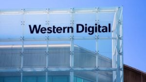 Front of a Western Digital (WDC) building in Malpitas, California.