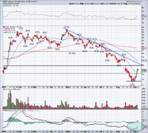 chart of CGC stock