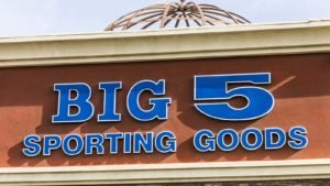 A Big 5 Sporting Goods (BGFV) location in a Las Vegas strip mall.