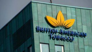 British American Tobacco (BTI) logo on a building