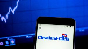 Cleveland Cliffs (CLF) logo on an iPhone