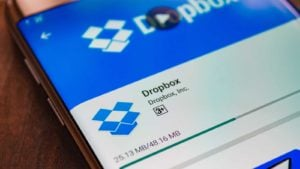 an image of the dropbox website