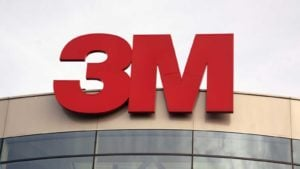 3M (MMM) logo on top of a corporate building